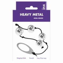 Kinx Heavy Metal Anal Beads Silver OS