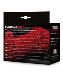 FETISH DREAMS BONDAGE ROPE 3M RED